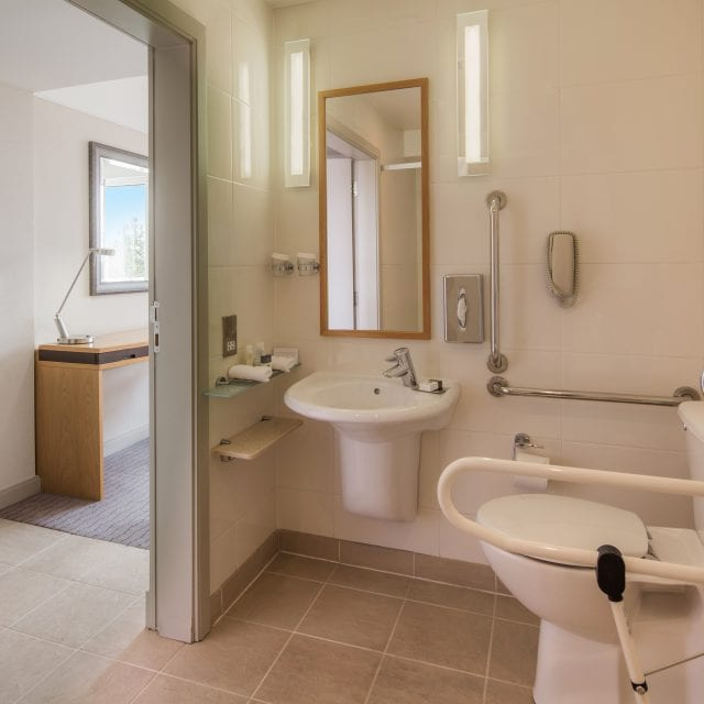 Clayton Hotel Accessible Rooms ensuite shower room